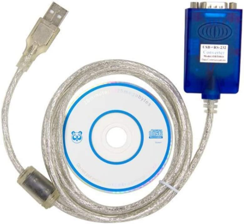 32//64bit E-Car Connection USB 2.0 to RS232 Serial DB9 Convertor Cable FTDI Chipset Adapter with CD Driver for Windows 7 /& 10