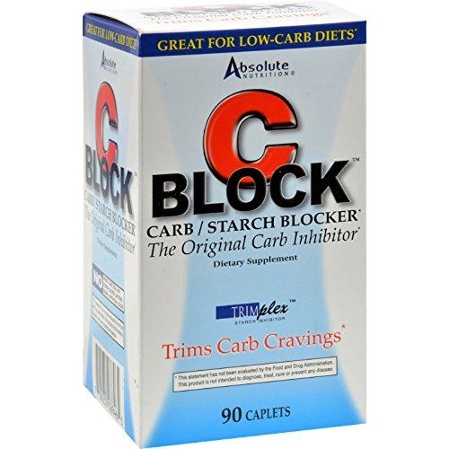 Absolute Nutrition C Block Carb and Starch Blocker - Trim Carb Craving - 90 Caplets (Pack of 2) by Absolute Nutrition (Image #1)