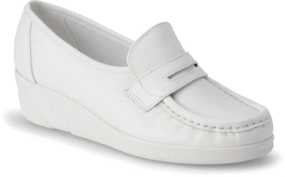 Nurse Mates Women's Pennie Slip on Nursing Shoe B000EQNKOS 12 B(M) US White