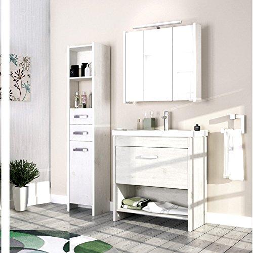 Landhaus Badezimmer Möbel Set Massiv Weiß Badmöbel Schrank Waschtisch  Waschplatz Jetzt Kaufen