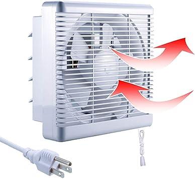 Amazon Com Sailflo Exhaust Shutter Fan 8 Inch 300 Cfm 2 Direction Reversible Strong Airflow Ventilation Blower For Bathroom Attic Kitchen Window Basement 8 Diameter Propeller 12 12 Panel Kitchen Dining