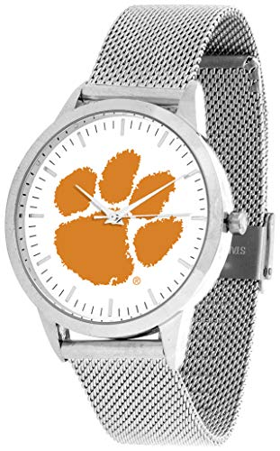 (Clemson Tigers - Mesh Statement Watch - Silver Band)