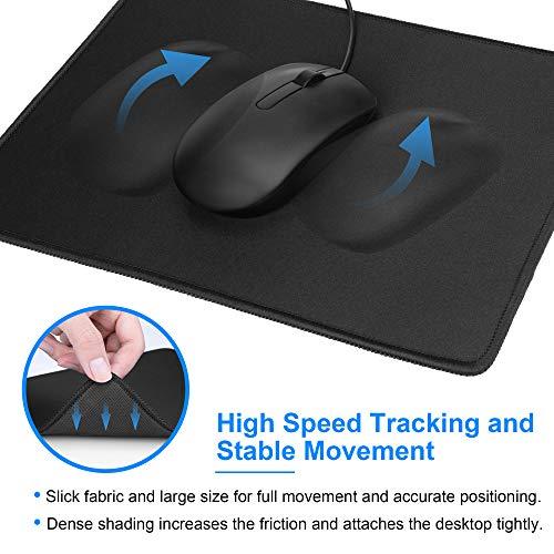 [해외구매대행 $3 99] MROCO Computer Mouse Pad with Non-Slip Rubber Base,  Premium-Textured and Waterproof Mousepad with Stitched Edges, Mouse Pads  for