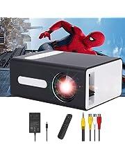 PADZUO Pro projector, draagbare mini-projector voor mobiele apparaten, compatibel met USB-hoofdtelefoonaansluiting, HDMI, TF, AV, 3,5 mm, cadeau voor kinderen