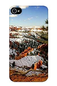 Crazylove Case Cover Snow In Bryce Canyon National Park / Fashionable Case For Iphone 4/4s