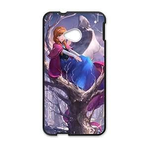 HTC One M7 phone case Black Frozen Disney Cartoon Elsa and Anna GGLL4415104