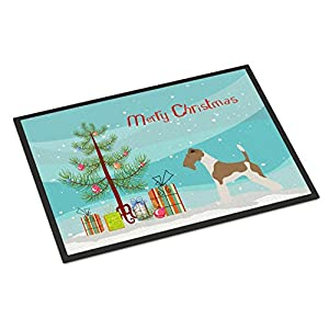 Caroline's Treasures BB8446MAT Wire Fox Terrier Christmas Indoor or Outdoor Mat 18x27, 18H X 27W, Multicolor 5