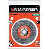 Black & Decker 4 Crimped Wire Wheel, Coarse, Bench Grinder Part No. 70-611 by BLACK+DECKER