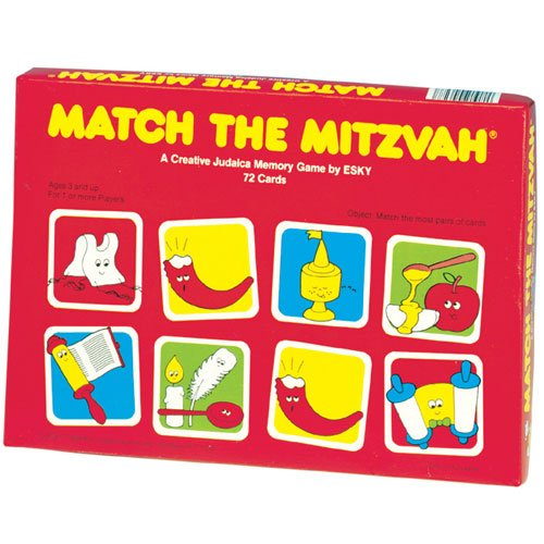 Educational Kids Match the Mitzvah Memory Game