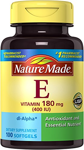 Nature Made Vitamin E 400 IU Softgels, 100Ct (Pack of 3)