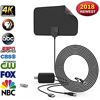Amazon Com Hdtv Digital Antenna Over The Air Tv Antenna