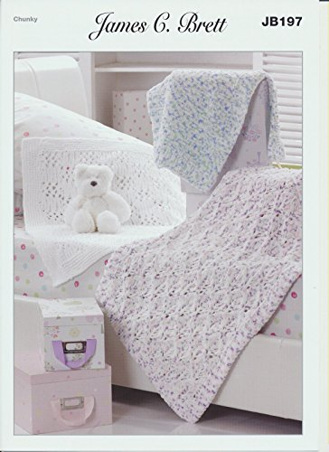 James C Brett Jb197 Blankets Knitting Pattern Flutterby Chunky