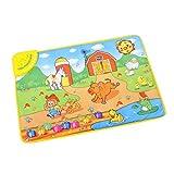 Baby Kids Educational Music Carpet Toy Farm Animal Musical Touch Singing Gym Mat Gift