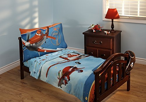 Disney Planes Let's Soar 4 Piece Toddler Bedding Set