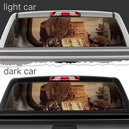ac0ba9d649af2f Fishing Equipment Perforated Film Car Accessories Truck Window Wrap Car  Truck Decal Car Idea Suv Decal