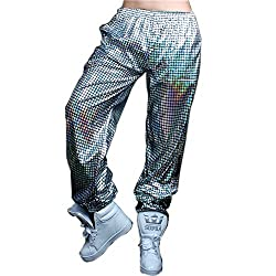 Metallic Hologram Shiny Party Trousers