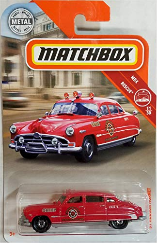 (Matchbox 2019 MBX Rescue '51 Hudson Hornet 64/125, Red)