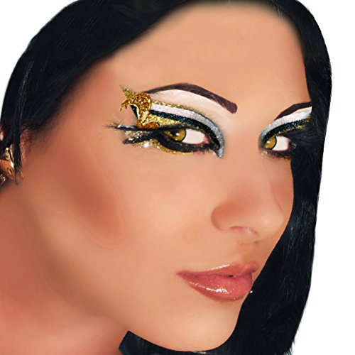 Cobra Applique Xotic Eyes Silver Black Gold Glitter Greek Costume Snake Make (Showgirl Makeup For Halloween)