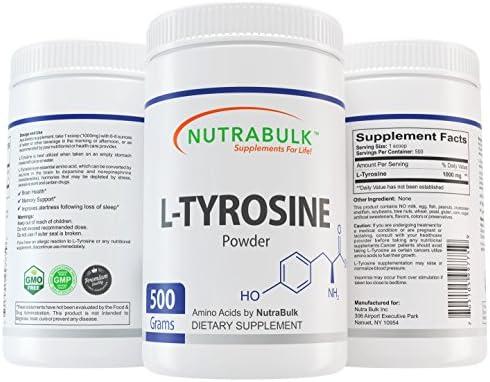 NutraBulk L-Tyrosine Powder – 500 Gram 1.1lbs