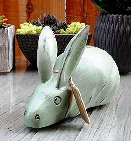 Country new rustic carved RABBIT bowl