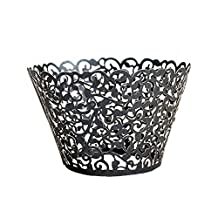 50pcs/Lot Pearly Paper Vine Lace Cup Cake Wrappers Liner Baking Cup For Home Garden Wedding/Birthday Party Decoration