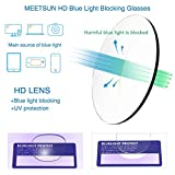 MEETSUN Blue Light Blocking Glasses, Anti Eye