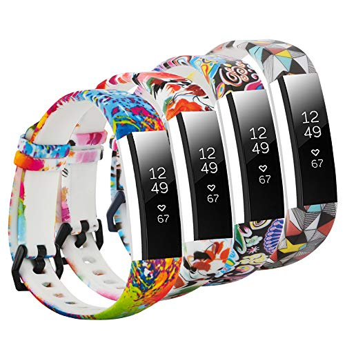 Clasp One (honecumi Floral Replacement Wrist Strap Compatible with Fitbit Alta/Alta HR Pattern Watch Bands Exchange Accessory for Men Women Adjustable Fitbit Alta HR Band with Metal Clasp-One)