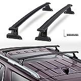 VZ4X4 Black Crossbars Roof Racks Cross Bars Rails fit for 2018-2019 Chevy Chevrolet Traverse High Country, L, LS, LT, Premier, RS Part # 84231368