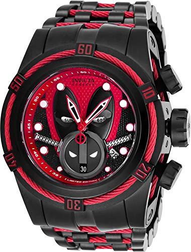 Invicta 27151 Reserve Men's 52mm Marvel Deadpool Bolt Zeus Limited Ed Swiss Ronda Z60 Chronograph Watch