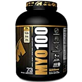 MYO100 A Transparent Blend of Whey Protein Powder, Whey Protein Isolate 50%, Whey Protein Concentrate 40%, Whey Protein Isolate Hydrolysate 10% – 5 Lbs. 73 Servings Delicious Molten Chocolate