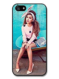 Ariana Grande Blue Background Popstar Singer Case For Iphone 6 Plus 5.5 Inch Cover