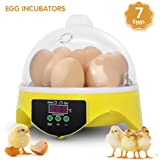 Mini Egg Incubator Fully Digital Automatic Poultry Hatcher Machine with Temperature Control, Clear General Purpose…