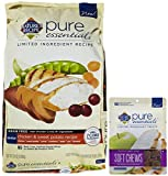 Nature's Recipe Pure Essentials Grain Free Senior + Soft & Chewy Treats Bundle-25 pounds
