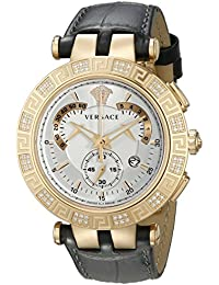 Men's 23C82D002 S009 V-RACE CHRONO Diamond-Accented Rose Gold Ion-Plated Watch