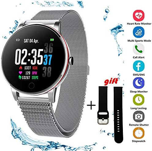 Fitness Tracker Y9, Activity Tracker Watch with Heart Rate Monitor, Waterproof Smart Fitness Band with Step Counter, Calorie Counter, Pedometer Watch for Kids Women and Men