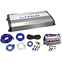 Package: Hifonics Brutus BRX2416.1D 2400 Watt RMS Class D Mono Block Car Amplifier With Bass Remote + Rockville RWK01 0 Gauge 2 Channel Complete Car Amplifier Installation Kit With A Set of RCA Cables + Rockville RXC4D 4 Farad/12 Volt Digital Power Capacitor