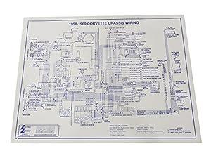 amazon com 1958 1960 corvette wiring diagram laminated 17x22 wire rh amazon com 1979 Corvette Wiring Diagram 1981 Corvette Wiring Diagram