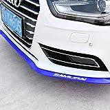Automotive : Front Lip ,HengJia Auto Parts 2.5m/8.2ft Car carbon fiber front lip,Front Bumper Lip ,Carbon Lip ,Side Skirt, front lip spoiler 100% waterproof protection( Blue)