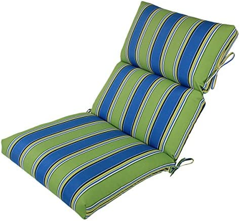 Comfort Classics Inc. 22W x 44L x 5H Hinge at 24″ Spun Polyester Outdoor CHANNELED Reversible Chair Cushion