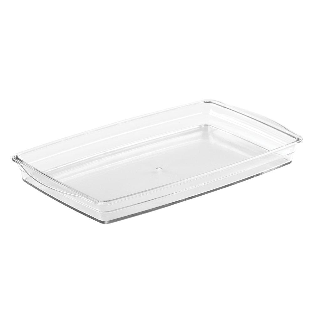 InterDesign Eva Bath Countertop Vanity Accessory Set, Soap Dispenser Pump, Toothbrush Holder, Tumbler, Soap Dish - 4 Pieces, Clear 02559C4