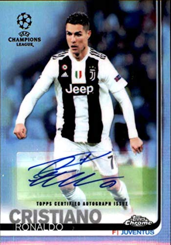 (2018-19 Topps Chrome UEFA Champions Autograph #100 Cristiano Ronaldo AUTO 6/9 AUTO Soccer Trading)