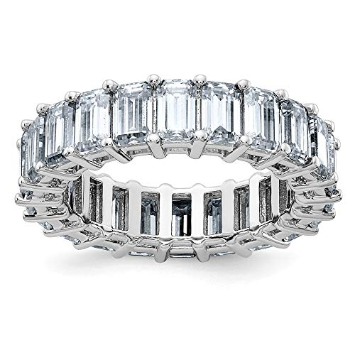 Used, 14K White Gold Moissanite Ring Polished Rhodium Emerald-cut-cut for sale  Delivered anywhere in Canada