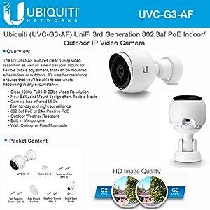 Ubiquiti (UVC-G3-AF) UniFi 3rd Generation 802.3af PoE Indoor/Outdoor IP Video Camera
