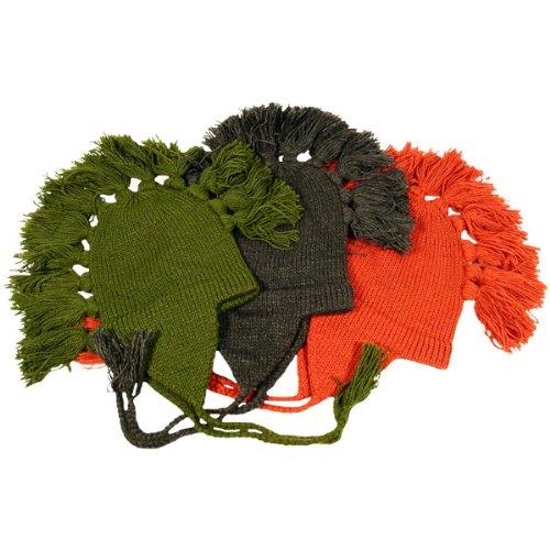 Three Alpaca Wool Mohawk Winter Ski Hats Caps Lined Pack