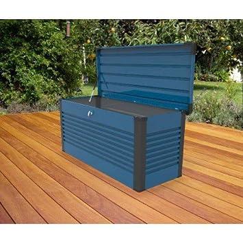 Baúl de almacenaje Design en metal 1.46 metros cuadrados Patio Box -, Blue - Trimetals: Amazon.es: Jardín