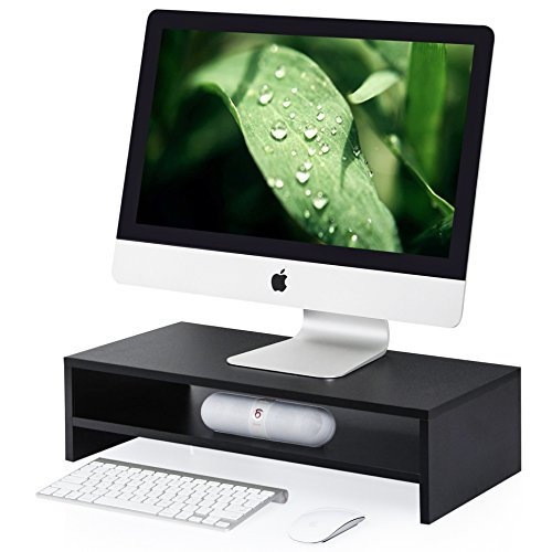 FITUEYES Computer Monitor Riser 21.3 inch 2 Tier Shelves Monitor Stand with Keyboard Storage Space ()