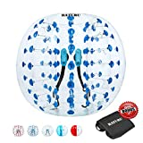 Inflatable Bumper Balls for Adults/Kids, Human Hamster Ball 5 ft /4 ft, Bumper Bubble Soccer Ball W/Ultra Thick PVC (Upgraded Blue Dot, 5 FT)