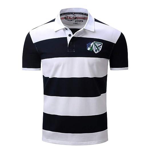 Weentop Top Casual de Verano para Hombre Camisa de Solapa a Rayas ...