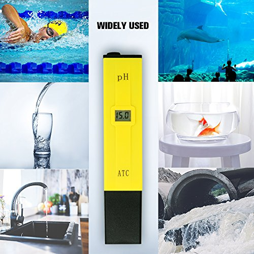 PH Meter, Daugee Pocket Size 0.01 PH High Accuracy Water Quality Tester with Auto Temp Compensation Function for Household Drinking, Pool and Aquarium (Yellow) by Daugee (Image #6)