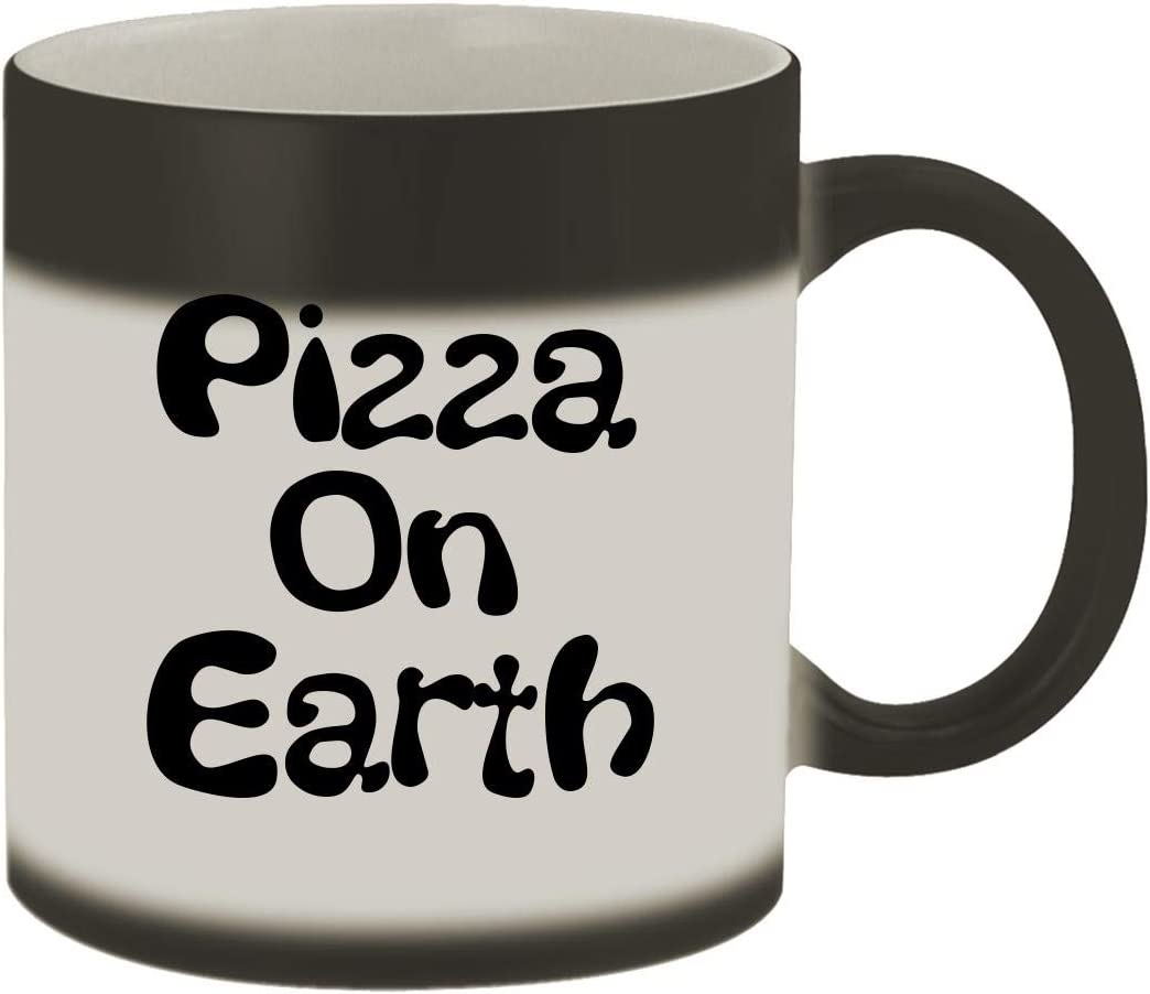 Pizza On Earth - 11oz Ceramic Matte Black Color Changing Mug, Matte Black